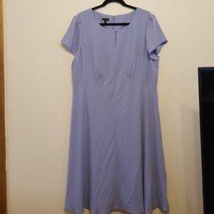 Talbots shirt sleeve light blue dress